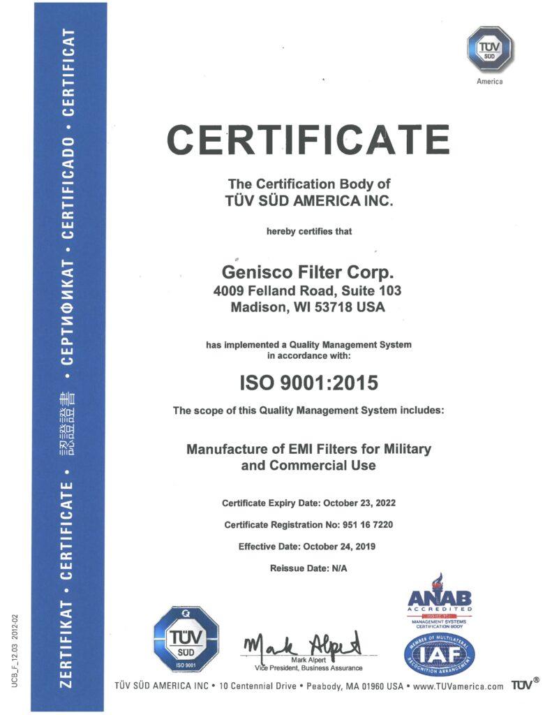 TÜV SÜD Certificate